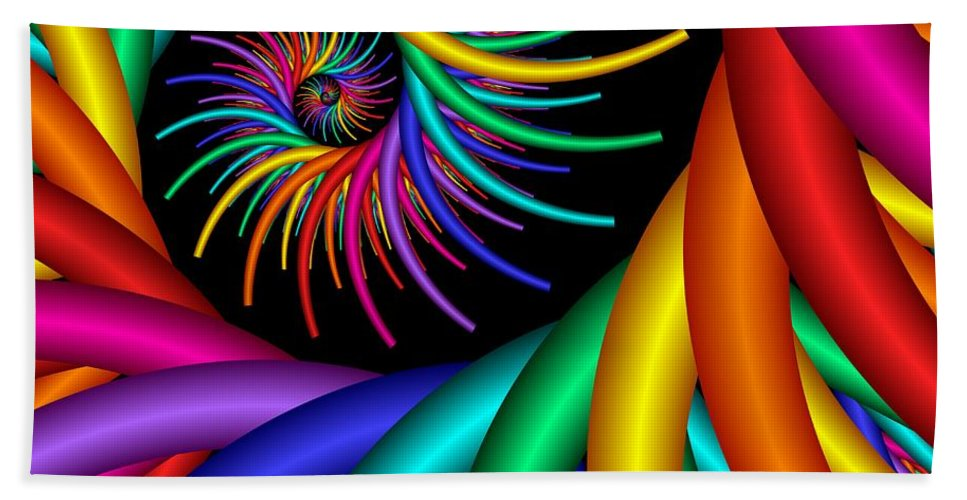 3d Hand Towel featuring the digital art Quite Different Colors -20- by Issabild -
