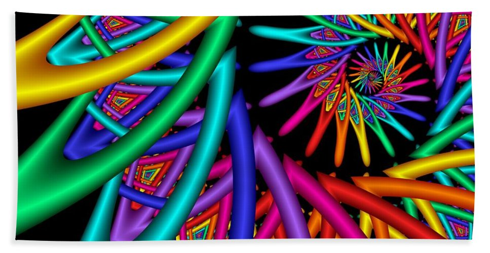 3d Bath Sheet featuring the digital art Quite In Different Colors -4- by Issabild -