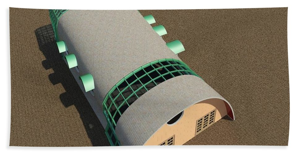 Building Hand Towel featuring the digital art Quonset Twenty Ten by Ron Bissett