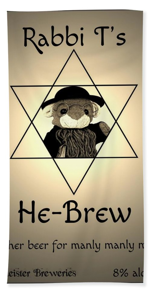 Rabbit Hand Towel featuring the photograph Rabbi T's He-brew by Piggy