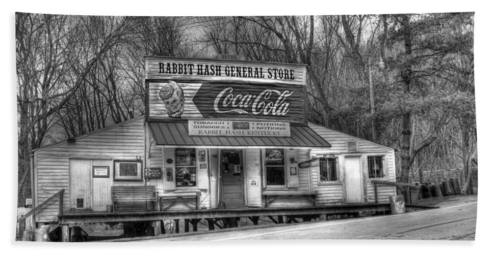 Rabbit Hash Hand Towel featuring the photograph Rabbit Hash General Store by Tammy Sullivan