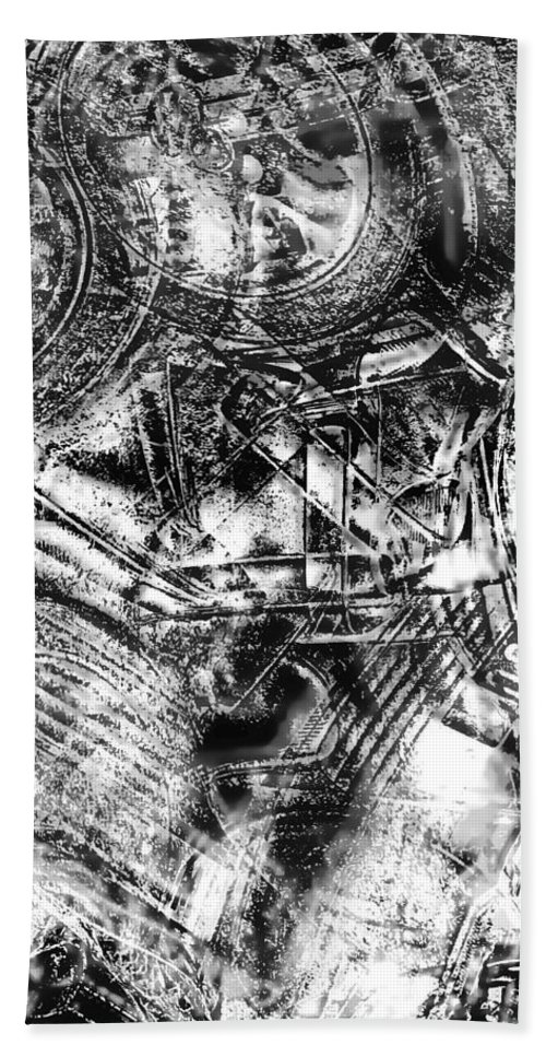 Abstract Bath Sheet featuring the photograph Radiance In Monochrome by Tom Gowanlock