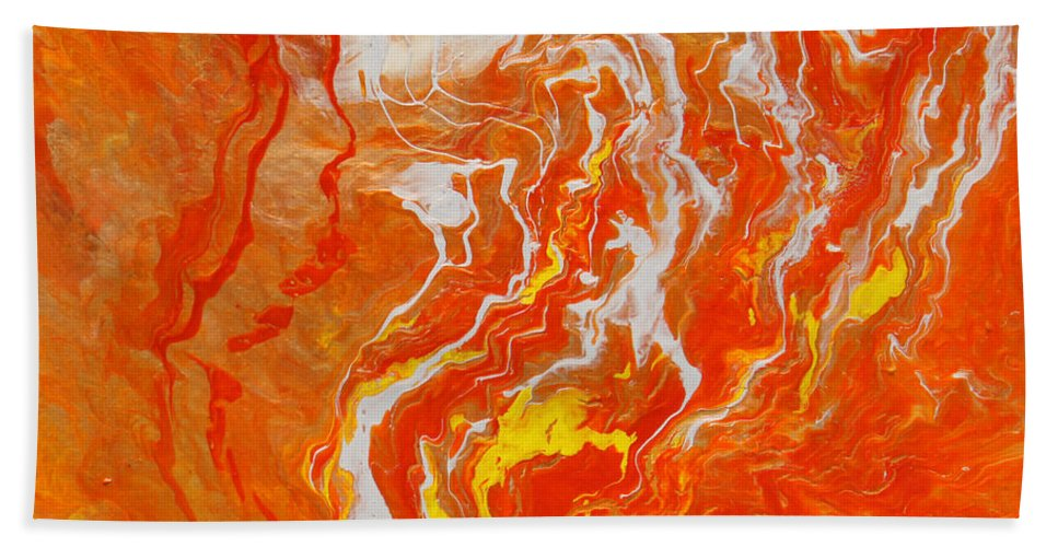 Fusionart Hand Towel featuring the painting Radiance by Ralph White