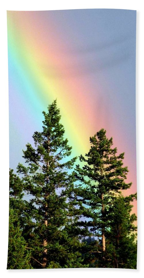 Rainbow Bath Sheet featuring the photograph Radiant Rainbow by Will Borden