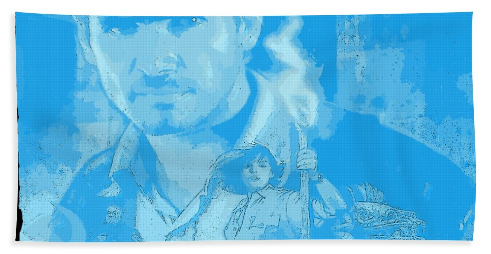 Raiders Of The Lost Ark Bath Towel featuring the digital art Raiders Of The Lost Ark by Lora Battle