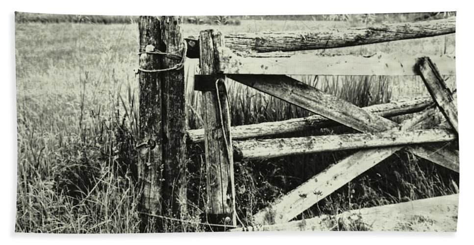 Rail Bath Sheet featuring the photograph Rail Fence by JAMART Photography