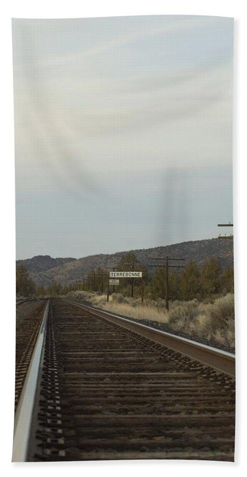 Railroad Bath Sheet featuring the photograph Railroad Tracks by Sara Stevenson