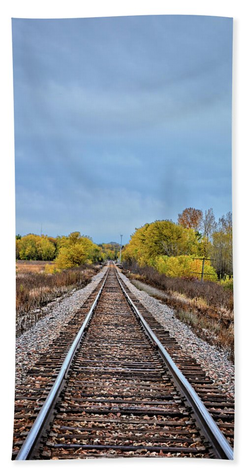 Rails Hand Towel featuring the photograph Rails To Parkersburg 2 by Bonfire Photography