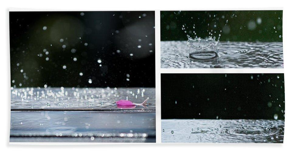 Lisa Knechtel Bath Sheet featuring the photograph Rain by Lisa Knechtel