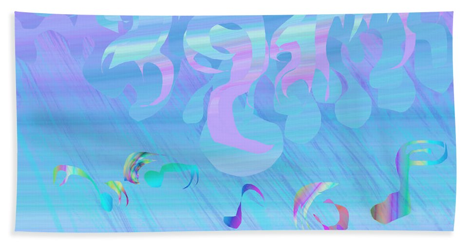 Abstract Hand Towel featuring the painting Rain Of Smiling by Victor Vosen