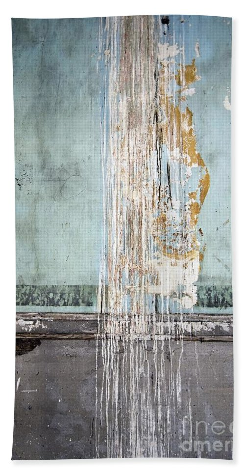California History Bath Sheet featuring the photograph Rain Ruined Wall by Norman Andrus