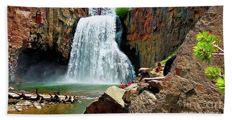 California Bath Sheet featuring the photograph Rainbow Falls 4 by Joe Lach