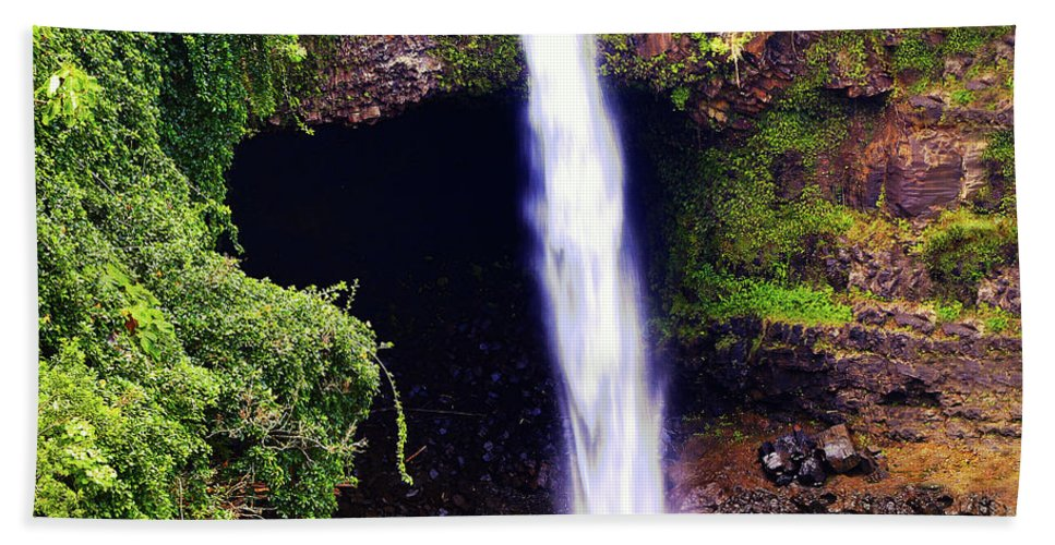 Waterfall Photography Hand Towel featuring the photograph Rainbow Falls Iv by Patricia Griffin Brett
