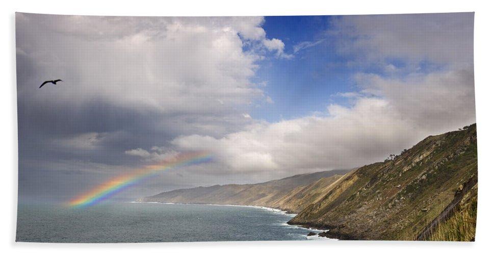 Spain Hand Towel featuring the photograph Rainbow From The Sea by Rafa Rivas