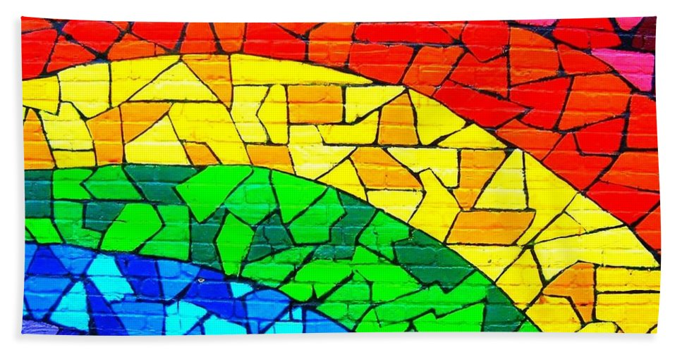Rainbow Bath Sheet featuring the photograph Rainbow ... by Juergen Weiss