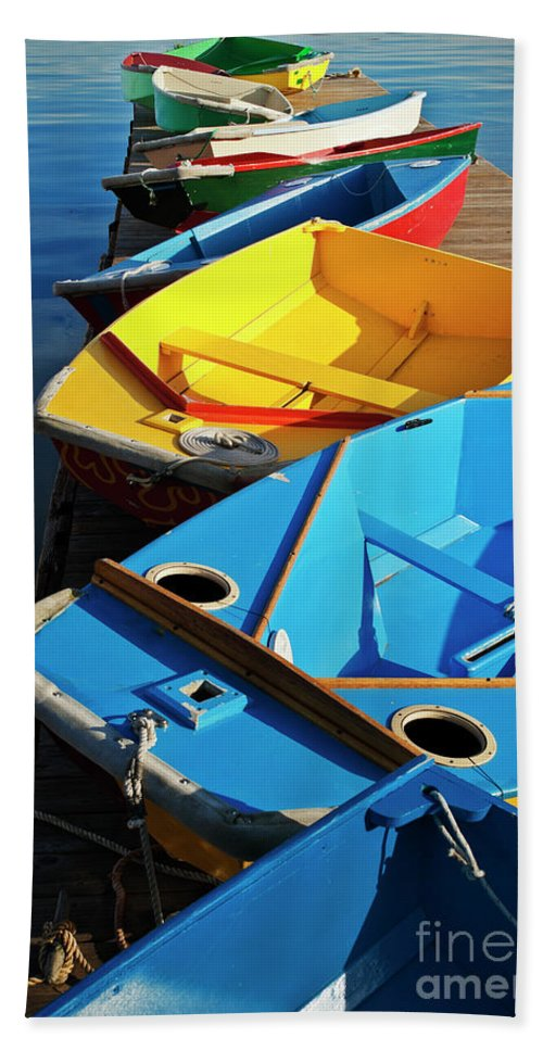 Sailing Hand Towel featuring the photograph Rainbow Of Prams by Christopher Marona