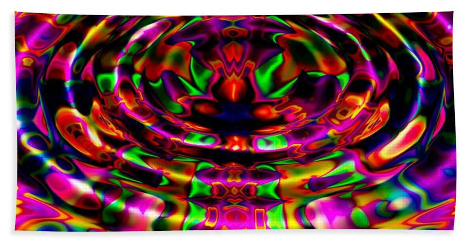 Ripple Hand Towel featuring the digital art Rainbow River by Robert Orinski