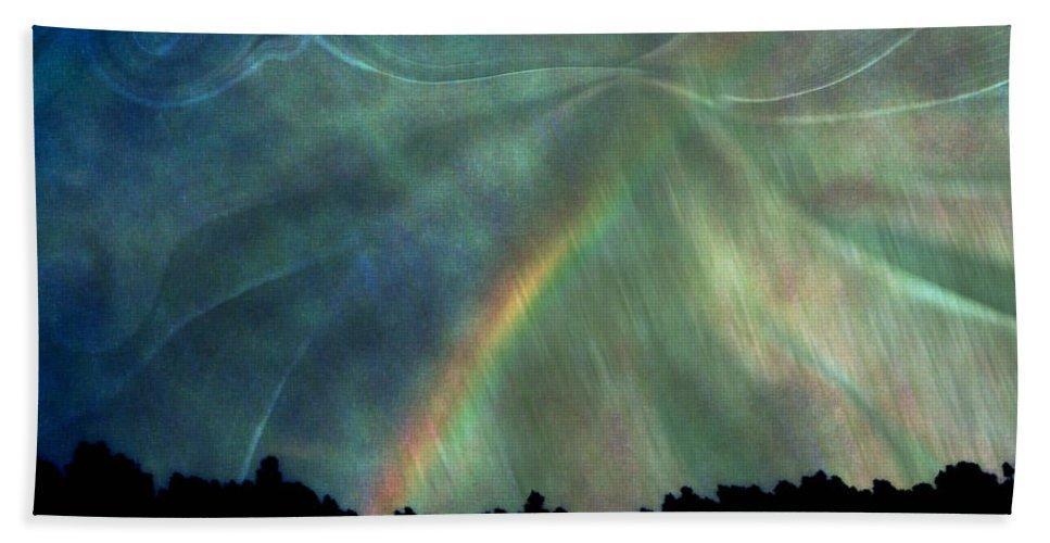 Nature Bath Sheet featuring the photograph Rainbow Showers by Linda Sannuti
