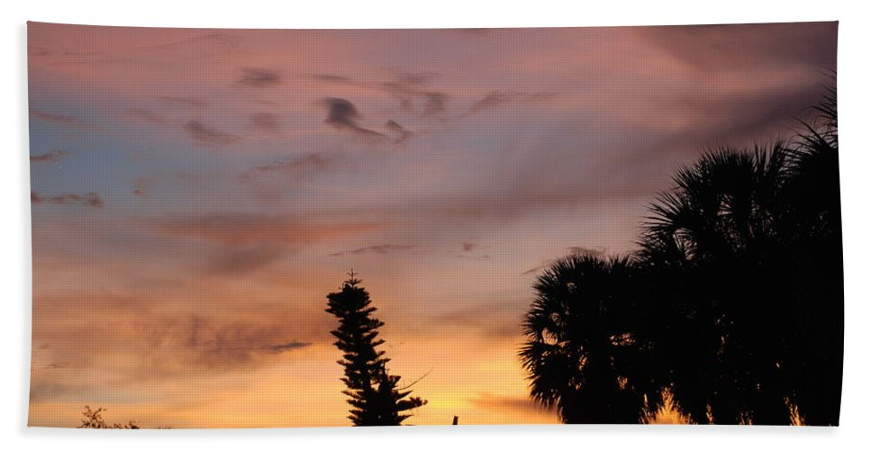 Sunset Hand Towel featuring the photograph Rainbow Sunset by Rob Hans