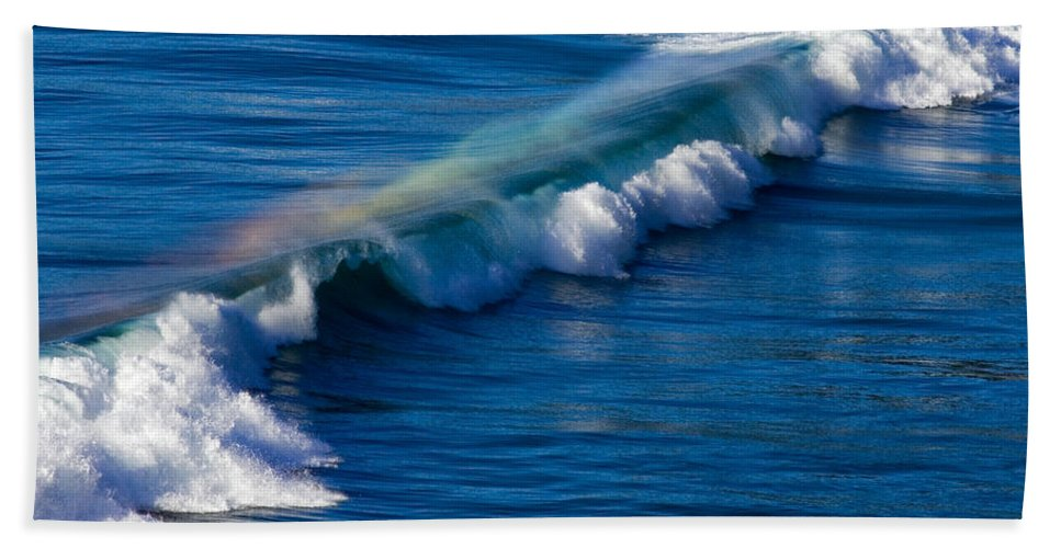 Rainbow Hand Towel featuring the photograph Rainbow Wave by Randall Ingalls