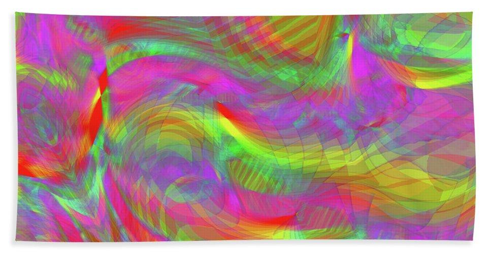 Rainbow Hand Towel featuring the digital art Rainbowlicious by Diane Parnell