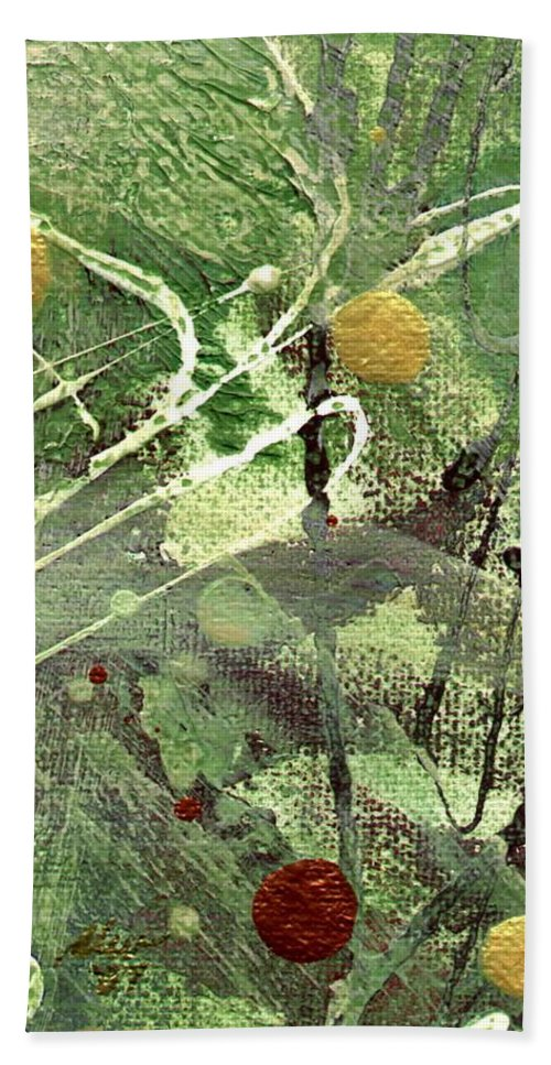 Greenery Hand Towel featuring the mixed media Rainforest by Angela L Walker