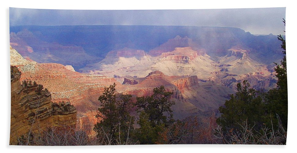 Grand Canyon Bath Sheet featuring the photograph Raining In The Canyon by Marna Edwards Flavell