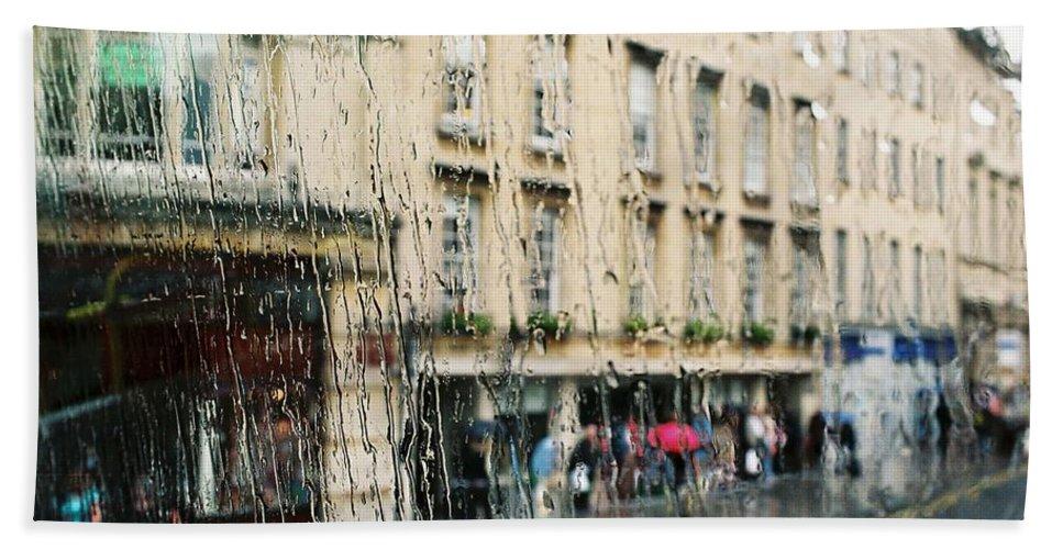 Rain Hand Towel featuring the photograph Rainy Bath by Lauri Novak