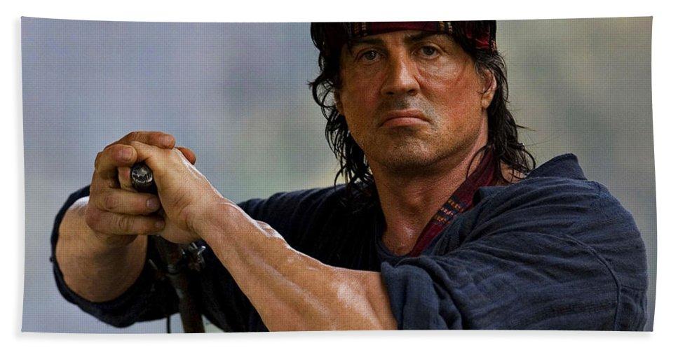 Rambo Sylvester Stallone Bath Towel