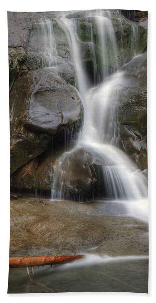Ramsey Hand Towel featuring the photograph Ramsey Cascades In Great Smoky Mountains National Park Tennesee by Brendan Reals