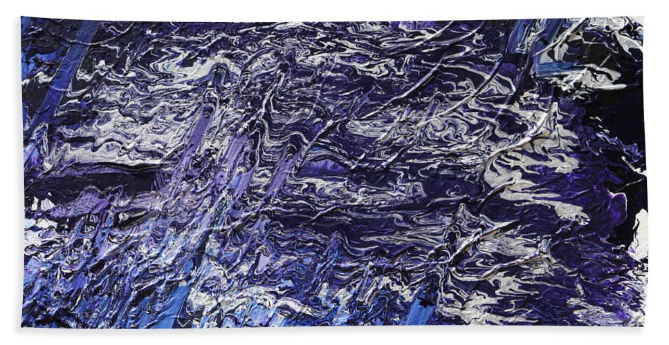 Fusionart Hand Towel featuring the painting Rapid by Ralph White