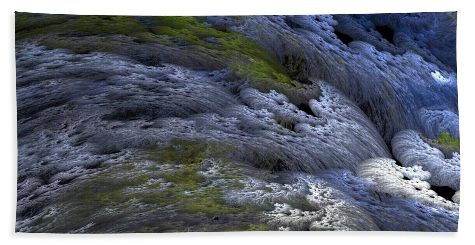 Digital Painting Bath Sheet featuring the digital art Rapids by David Lane
