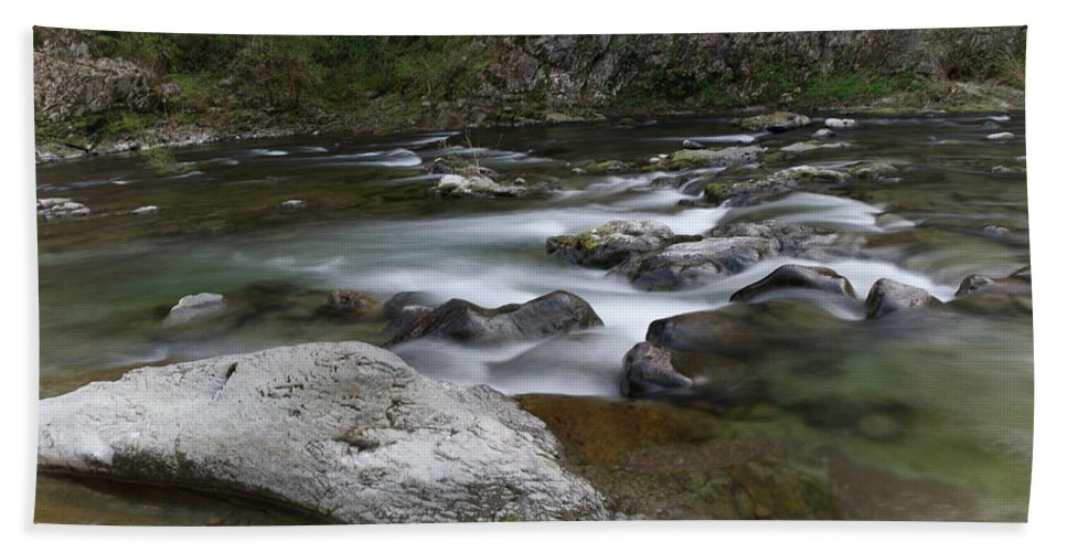 Rivers Bath Sheet featuring the photograph Rapids On The Washougal River by Jeff Swan