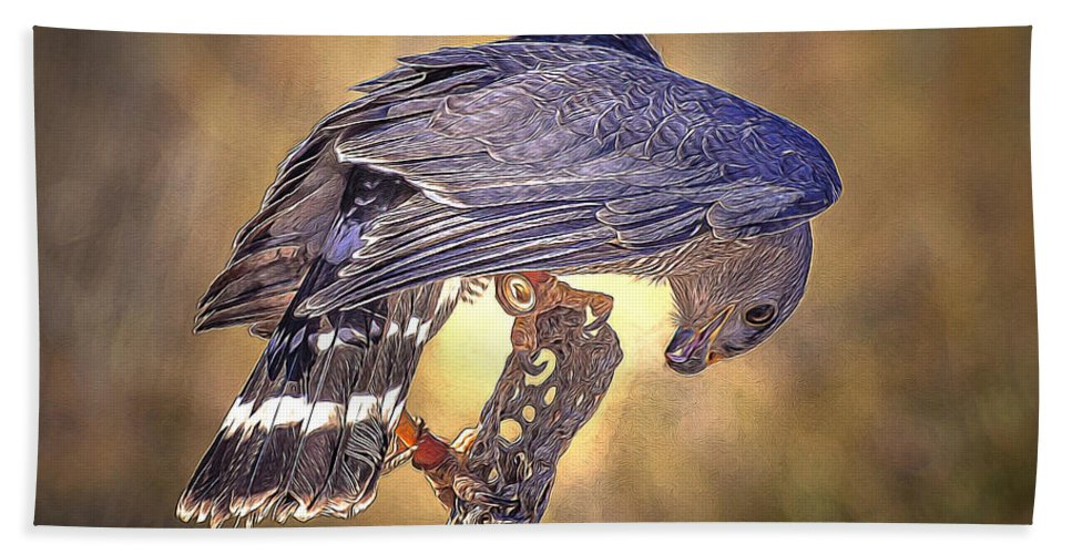 Raptor Hand Towel featuring the photograph Raptor 22 by Larry White