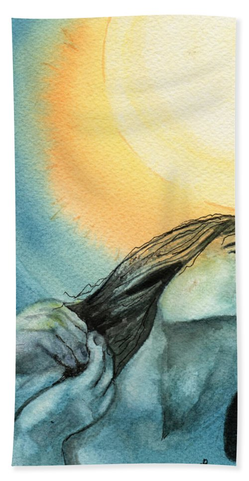 Watercolor Bath Towel featuring the painting Rapture by Brenda Owen