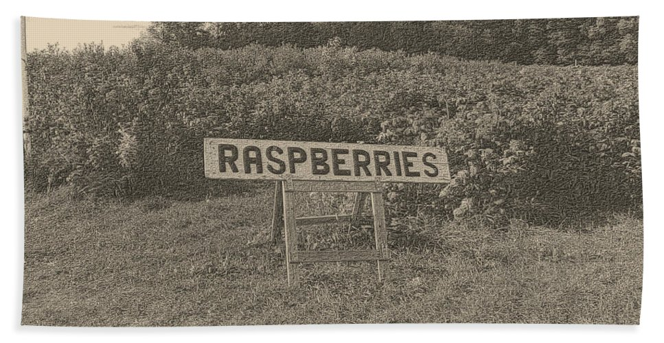 Country Hand Towel featuring the photograph Raspberry Fields by September Stone
