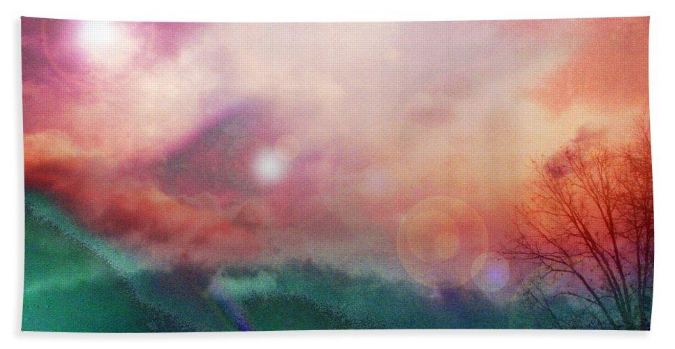 Nature Hand Towel featuring the digital art Ray Of Hope by Linda Sannuti