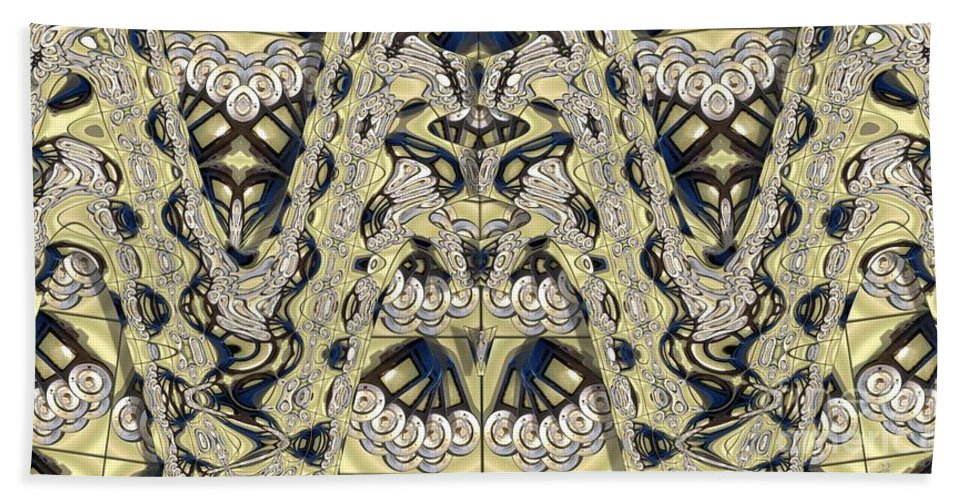Abstract Hand Towel featuring the photograph Rca Lyra Pattern by Ron Bissett