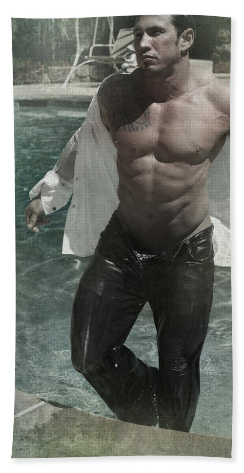 Man Bath Sheet featuring the photograph Ready Or Not by Laurie Search