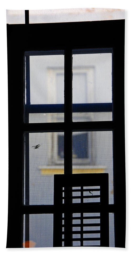 Architecture Bath Sheet featuring the photograph Rear Window 2 by Skip Hunt