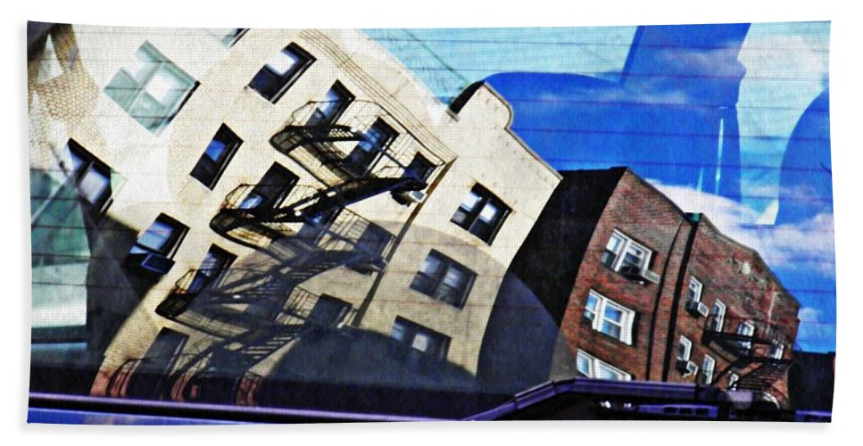 Car Bath Sheet featuring the photograph Rear Window by Sarah Loft