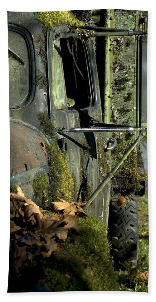 Truck Hand Towel featuring the photograph Rearview by Sara Stevenson