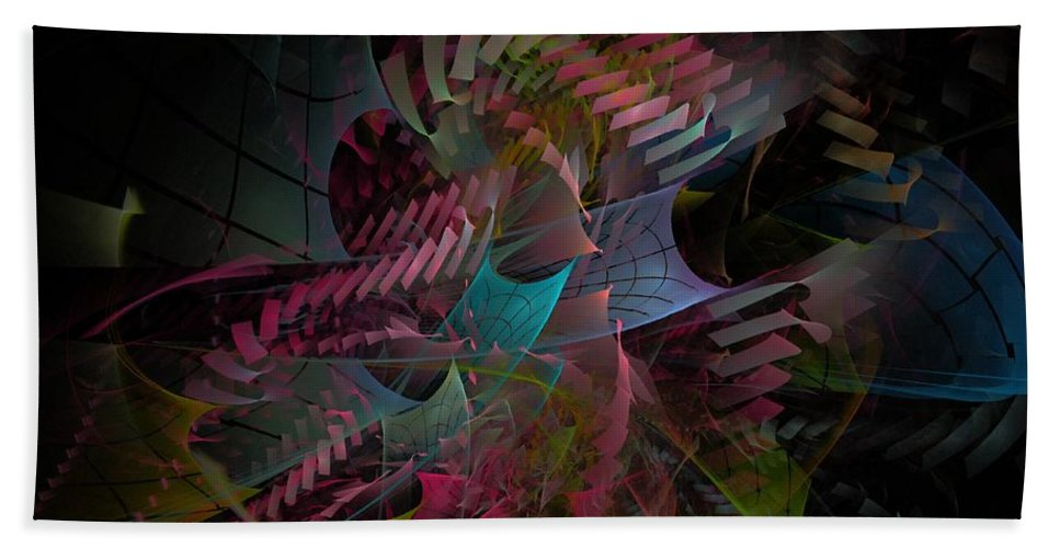 Abstract Hand Towel featuring the digital art Reason And Virtue - Fractal Art by NirvanaBlues