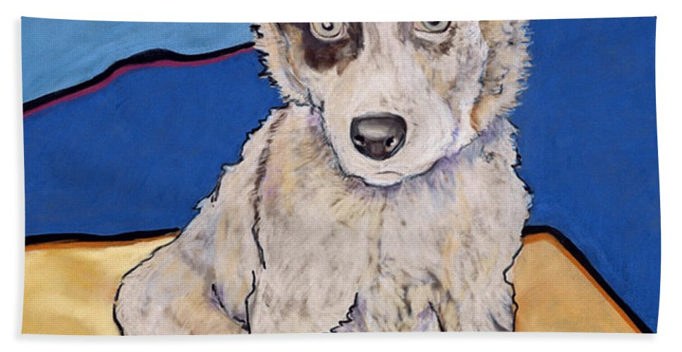 Merle Aussie Hand Towel featuring the painting Reba Rae by Pat Saunders-White