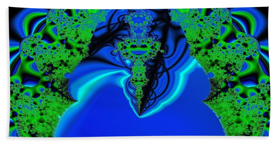 Fractal Bath Sheet featuring the digital art Rebirth I by Dominique Favre
