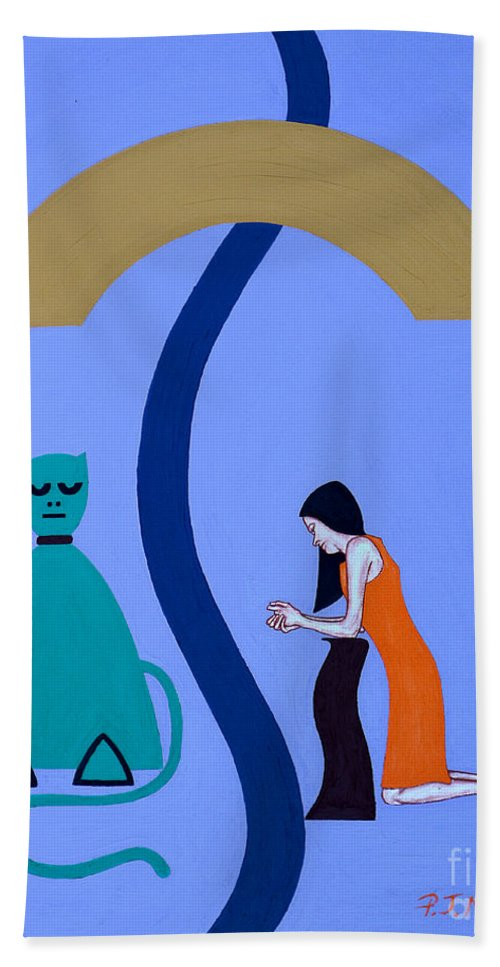 Reconciliation Hand Towel featuring the painting Reconciliation 2 by Patrick J Murphy