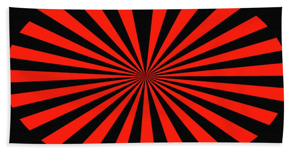 Red And Black Abstract #3 Hand Towel featuring the digital art Red And Black Abstract #3 by Tom Janca