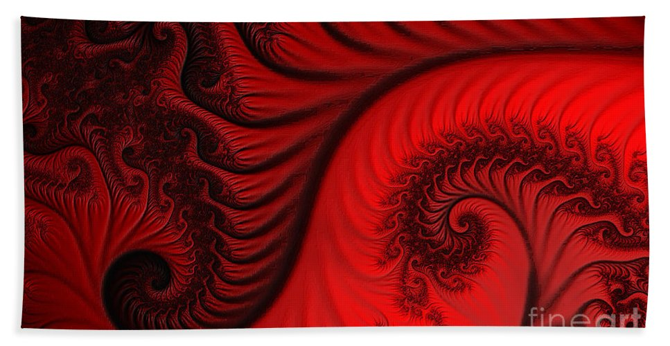 Clay Bath Sheet featuring the digital art Red Ants by Clayton Bruster