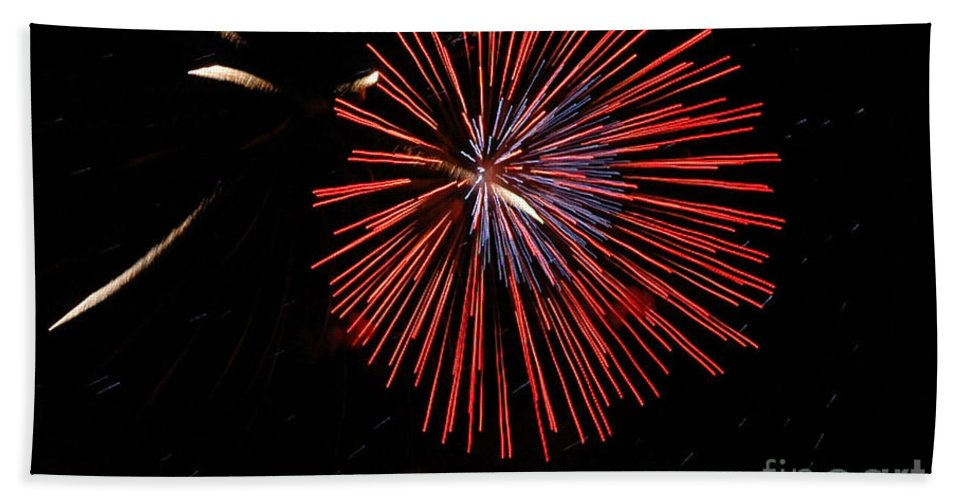 California Scenes Bath Sheet featuring the photograph Red Burst by Norman Andrus