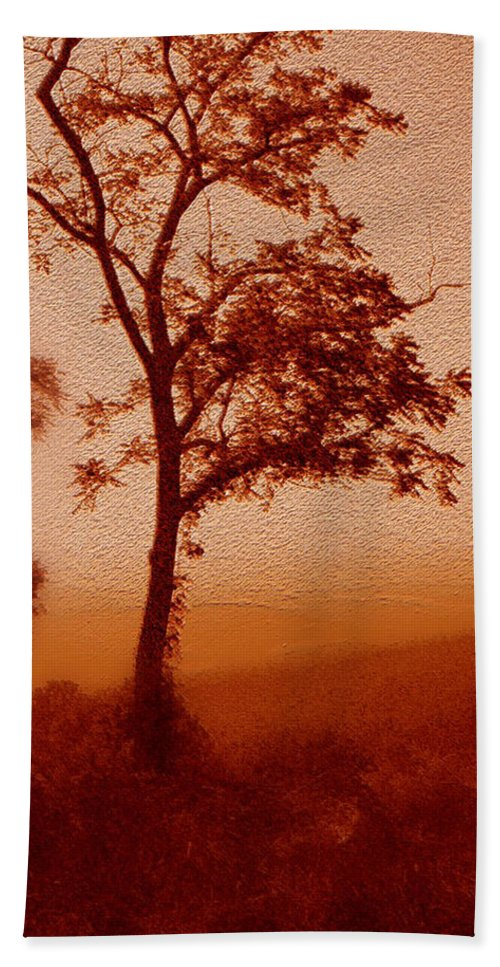 Red Dawn Hand Towel featuring the photograph Red Dawn by Linda Sannuti
